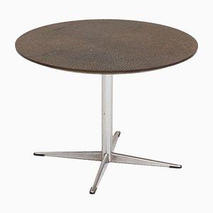 Tavolino rotondo in metallo e rame, anni '50