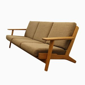 Vintage Danish Oak GE290/3 Sofa by Hans J. Wegner for Getama