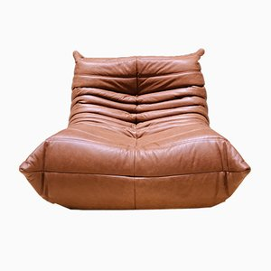 Mid-Century Leather Togo Lounge Chair by Michel Ducaroy for Ligne Roset, 1970s