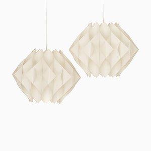 Acrylic Butterfly Pendants by Lars Shiøler for Høyrup Lighting, 1960s, Set of 2