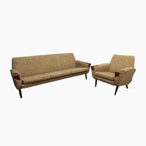 Dänisches Vintage Sofa und Sessel-Set, 1960er