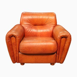 Leatherette Club Chair, 1980s