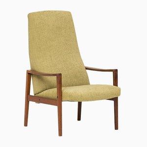 Sessel mit Gestell aus Teak & hoher Rückenlehne von Ulferts Fabriker, 1960er