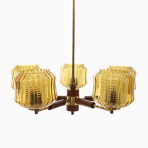 Vintage Scandinavian Chandelier by Carl Fagerlund for Örrefors, 1950s