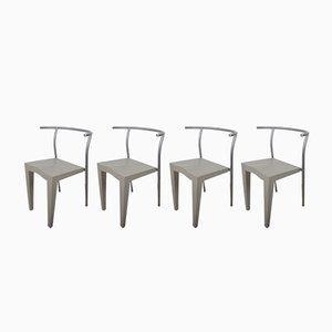 Chaises Dr Glob par Philippe Starck pour Kartell, 1980s, Set de 4