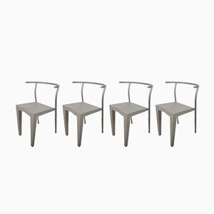 Dr Glob Chairs by Philippe Starck for Kartell, 1980s, Set of 4