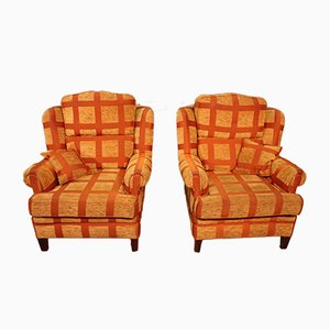 Vintage Fabric Armchairs, Set of 2