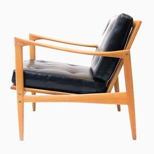 Vintage Oak Kandidaten Chairs by Ib Kofod-Larsen for OPE, Set of 2