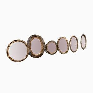 Specchi vintage di Bonacina, anni '50, set di 6