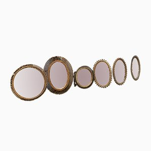Vintage Mirrors from Bonacina, 1950s, Set of 6