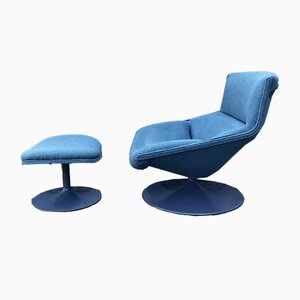 F520 Armchair & P510 Ottoman Set by Geoffrey Harcourt for Artifort, 1960s