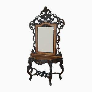 Consolle antica con specchio