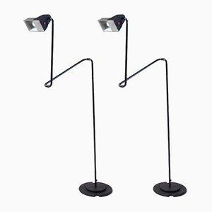 Lámparas de pie de Guillermo Capdevila para Belux, 1981. Juego de 2