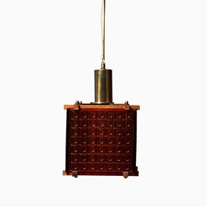 Suspension Mid-Century en Cristal Orange, Danemark