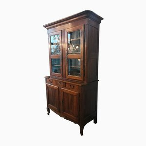Antique Glass & Wood Cupboard
