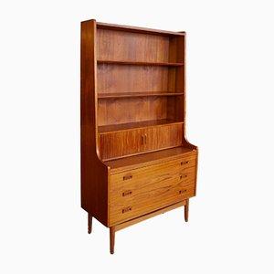 Vintage Danish Bookshelf Secretary, 1960s