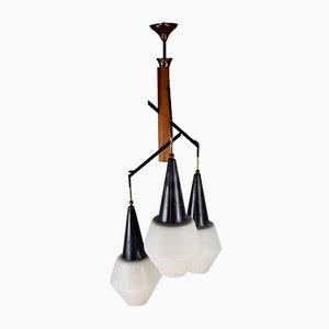 Lampada da soffitto Mid-Century di Stilnovo, Italia, anni '50