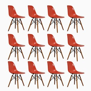 DSW Chairs by Charles & Ray Eames for Herman Miller, 1970s, Set of 12
