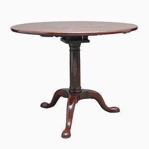 Tavolo tripode in mogano, XVIII secolo