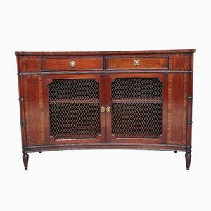 Concave Mahogany Cabinet, 1920s