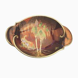Britische Art Deco Schale von Carlton Ware, 1950er