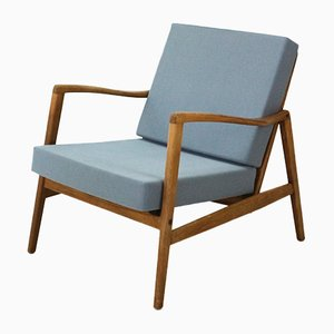 Vintage Blue Easy Chair by Hartmut Lohmeyer for Wilkhahn, 1960s