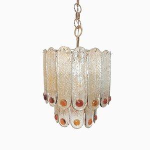 Lampada da soffitto vintage in vetro di Murano