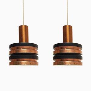 Lampes à Suspension Scandinaves, 1960s, Set de 2
