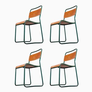 Stacking Dining Chairs from Cox, 1940s, Set of 4