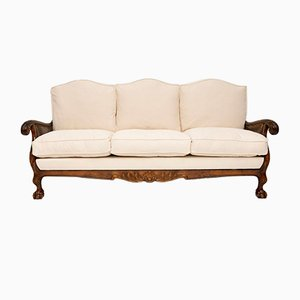 Swedish Satin Birch Bergere Sofa, 1920s