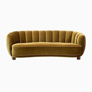 Geschwungenes dänisches Vintage Sofa