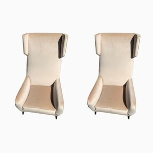 Italian Wing Chairs, 1950s, Set of 2