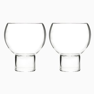 Low & Small Tulip Glasses by Felicia Ferrone for fferrone, 2014, Set of 2