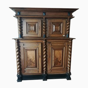 Large Antique 2-Part Cabinet