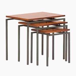 Juego de mesas nido de Cees Braakman para UMS Pastoe, años 60