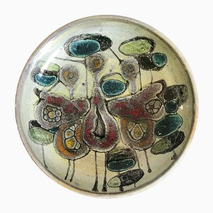 Centro de mesa italiano de cerámica de Lega Faenza, años 60