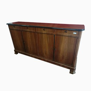 Antique Walnut Sideboard with 4 Doors