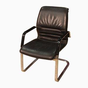 Armlehnstuhl aus Kunststoff, Eisen & Kunstleder, 1980er