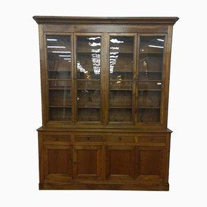Antikes Bücherregal aus Nussholz