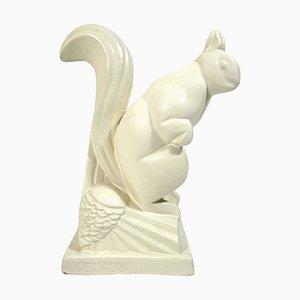 Scoiattolo vintage Art Déco in ceramica di Charles Lemanceau