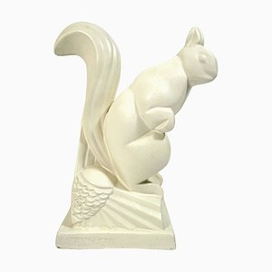Vintage Art Deco Ceramic Squirrel by Charles Lemanceau