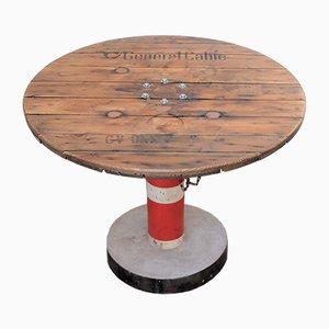 Runder industrieller Vintage Tisch