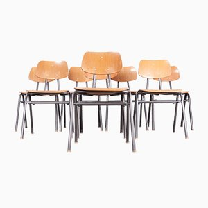 School Dining Chairs, 1960s, Set of 8