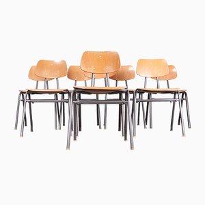 Schulkantinenstühle, 1960er, 8er Set