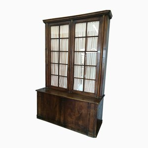 Antique Wood & Glass Cupboard