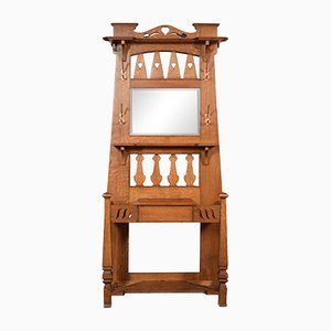 Vintage Oak Hall Stand from Liberty of London