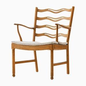Walnut Model 1755 Armchair by Ole Wanscher for Fritz Hansen, 1940s