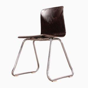 Vintage Esszimmerstühle aus laminiertem Hartholz & mit verchromten Beinen von Pagholz Flötotto, 1960er, 4er Set