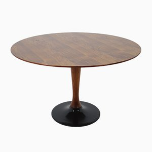 Round Teak Dining Table, 1970s