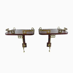 Early 20th Century Bedside Shelves, Set of 2